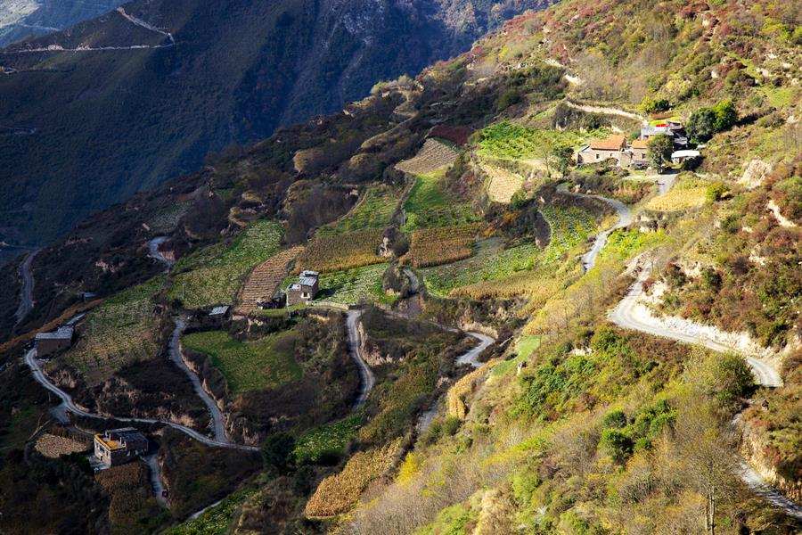 Autumn scenery of Ganpu village