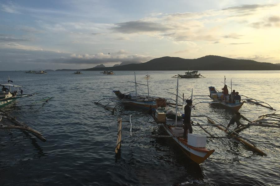 Fishing town of Concepcion, Iloilo in the Philippines