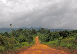 Road to Nimba, Liberia in great condition.