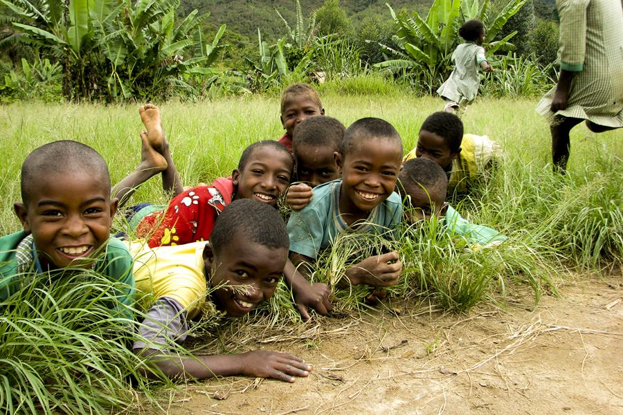 Children in the Ankeniheny Zahamena Corridor, Madagascar.
