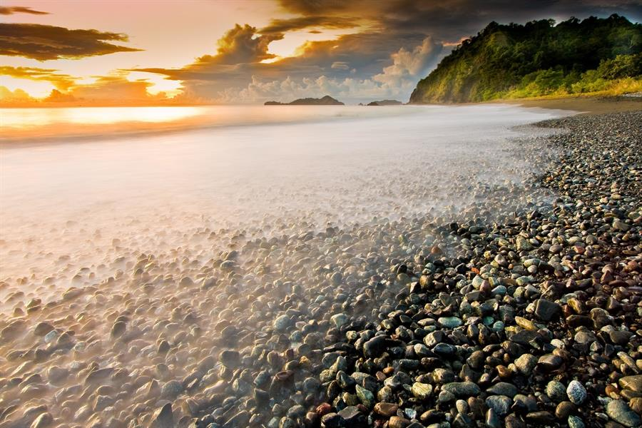 Sunrise on a turtle nesting beach in Central Sulawesi, Indonesia