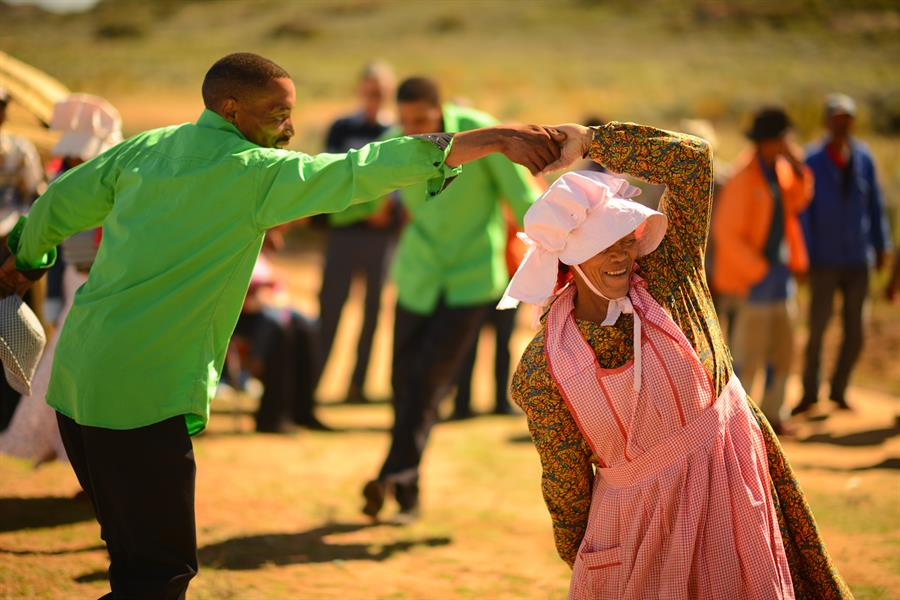 Dancing at a festival in Namaqualand