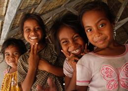 Girls in Kiribati