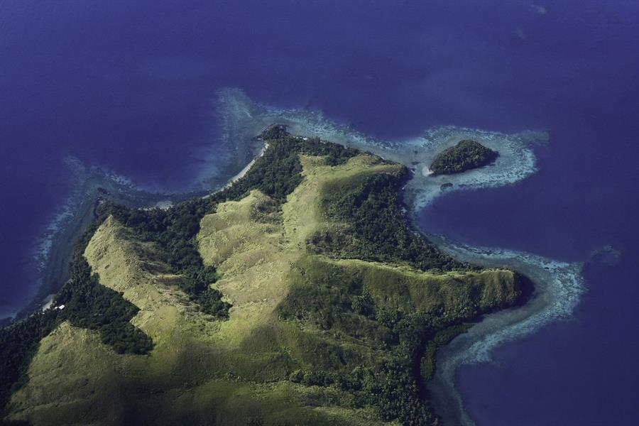 An aerial view of Fiji.