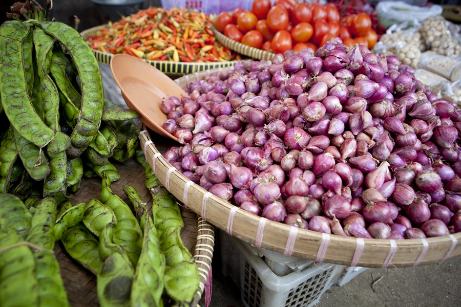Produce at local market