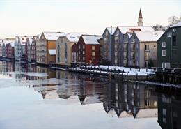 A view of Trondheim, Norway.