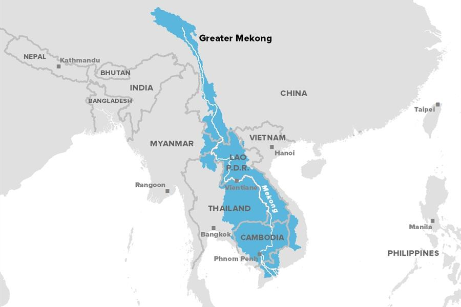 Map of the Greater Mekong region