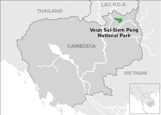 Map of the Veun Sai forest in northeast Cambodia