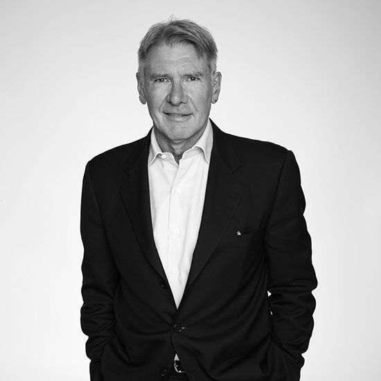 "Portrait of Harrison Ford, voice of ""The Ocean"""